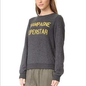 Wildfox champagne superstar pull over